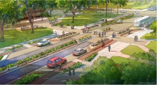 Rendering of Bigelow crossing