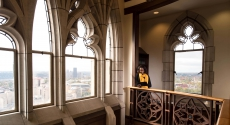 Windows on 42nd floor of Cathedral
