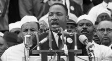"Martin Luther King Jr. giving ""I Have a Dream"" speech"