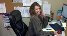Carrie Rodzwicz in her office