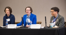 Professors Gretchen Bender, Vivian Curran and Jeannette South-Paul