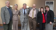 Six retiring faculty and staff members at UPB