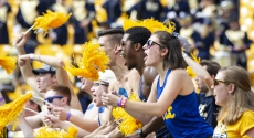 Fans cheer at Pitt football game