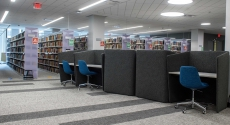 New study carrels on Hillman Library third floor