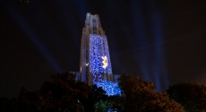 Cathedral lit up for homecoming 2019