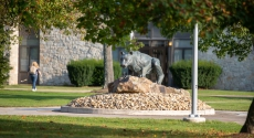 Mountain cat statue at Pitt-Johnstown