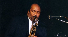 Nathan Davis playing saxophone