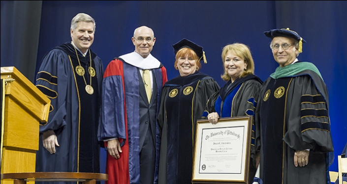 David Frederick receiving honorary degree