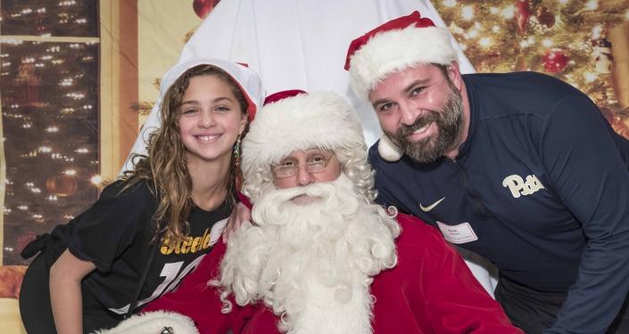 Santa and guests
