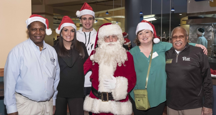 Volunteers and Santa