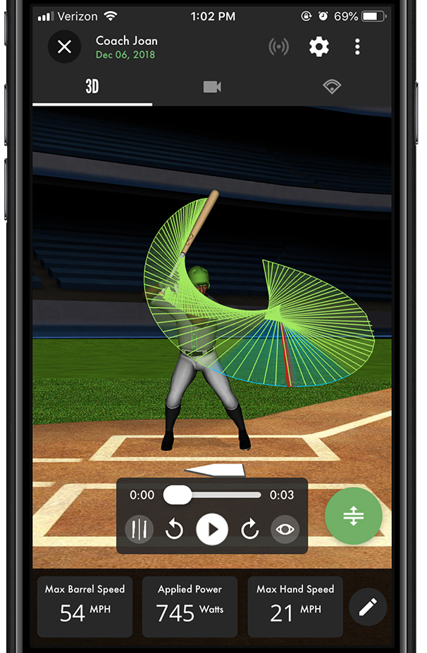 SwingTracker app