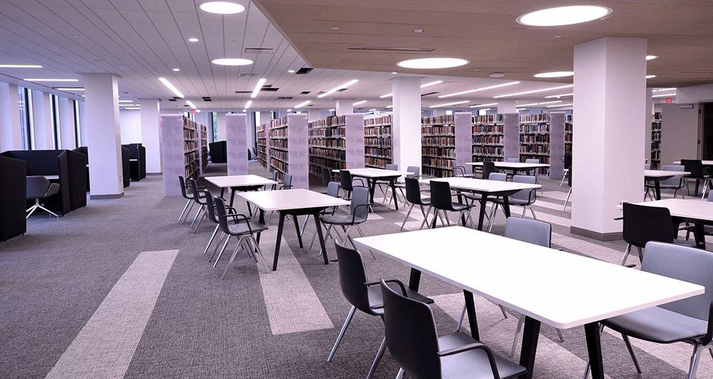 Hillman Library's new fourth floor