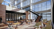 Rendering of 5051 Centre Ave. atrium
