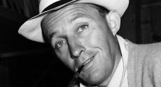 Bing Crosby with hat and pipe