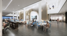 Rendering of first floor of Hillman Library