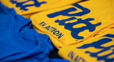 Pitt in Action t-shirts