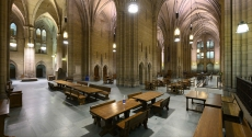 Empty commons room in Cathedral of Learning