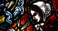 Florence Nightingale in stained glass
