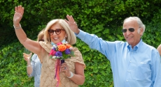 Art Levine and his wife, LindaMelada
