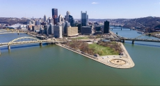 Downtown Pittsburgh view of the point. Photo by Tom Altany