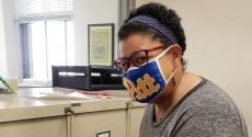 Woman in Pitt mask