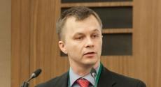 Tymofiy Mylovanov at podium