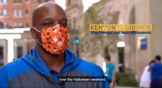 Dean Bonner with Halloween mask