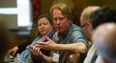 David Marshall at Humanities Fellows meeting