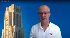 David DeJong with image of Cathedral of Learning