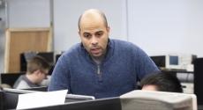 Samuel Dickerson in engineering class