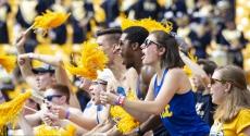 Fans cheer at Pitt football game