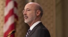 Gov. Tom Wolf at podium