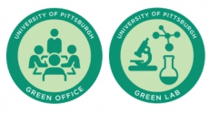 Stickers for Pitt Green Office and Green Lab