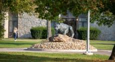 Mountain cat statue at Pitt-Johnstown