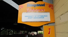 Kennywood placard for Pitt Day