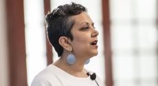 Leigh Patel speaking at Diversity Retreat