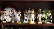 Bobbleheads on a shelf