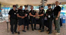 Pitt Police officers at National Night Out event