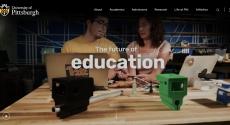 New pitt.edu home page