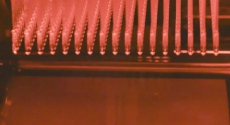 Image from video of swabs being produced