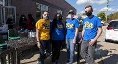 Pitt staff and faculty volunteers