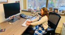 Child at computer desk