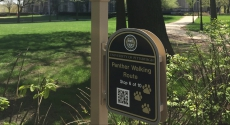 Walking route sign at Cathedral