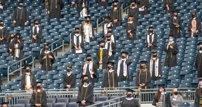 Students in stands at PNC Park