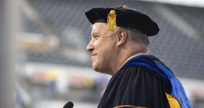 Chancellor Gallagher at PNC ceremony