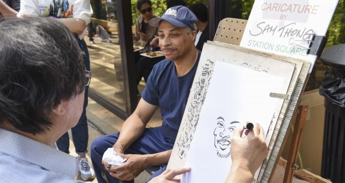 man getting caricature