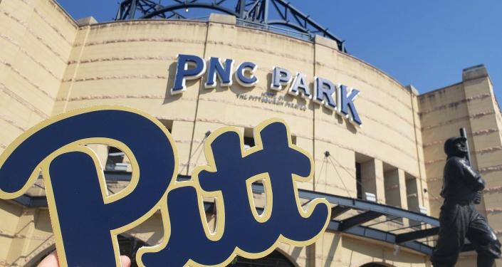 Pitt sign outside PNC Park