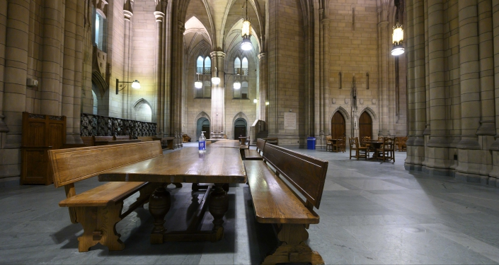 Empty Cathedral of Learning Commons Room