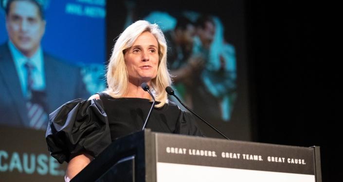 Heather Lyke at Dapper Dan Awards